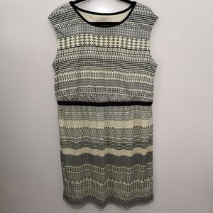 Ann Taylor Sleeveless Aztec Striped Sheath Dress